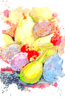 Fruits watercolor by Ahmet Asar