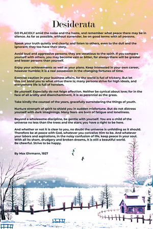 Desiderata By Max Ehrmann, 1927 3